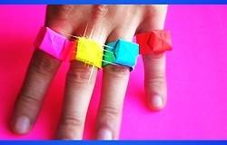 Как сделать кольцо из бумаги: 3 способа выполнения украшения
