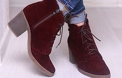 С чем носить женские бордовые ботинки: с какой одеждой носить девушкам повседневные, нарядные ботинки, несколько советов