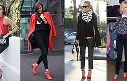 С чем носить красные женские ботинки? Как сочетать с джинсами, легинсами, юбкой, кожаной и верхней одеждой? Образы с тимберлендами.