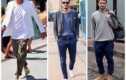 Как мужчинам носить высокие кроссовки с джинсами и другими брюками? Подбираем верх. Примеры образов.