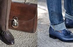 С чем носить мужские туфли дерби?