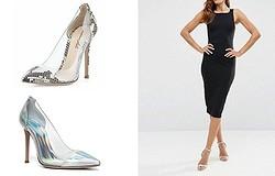 С чем носить серебряные туфли на каблуке