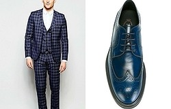 С чем носить синие мужские туфли