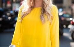 Сочетание с жёлтым цветом в одежде. Модные образы