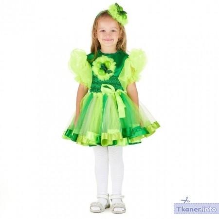 Костюм Яблочко для девочки зеленый