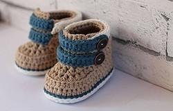 Детские носки крючком: схемы и описание вязания детских носков крючком, фото