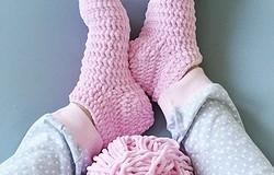 Носки из плюшевой пряжи крючком: схемы и пошаговое описание вязания носков из плюшевой пряжи