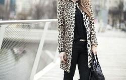 Леопардовое пальто: с чем его носить, как не выглядеть вульгарно и смешно