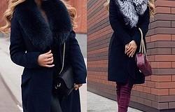 Пальто с меховым воротником, с чем носить и как сочетать