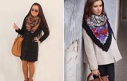 Как красиво завязать платок на пальто: на пальто различных фасонов эффектными способами