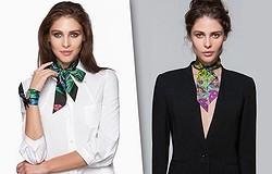 Как красиво завязать квадратный платок на шее: модные узлы и техники