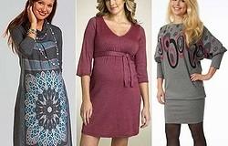 Фасоны платьев для беременных на зиму. Особенности моделей и с чем их комбинировать.