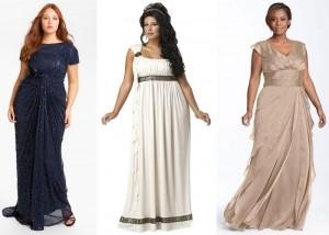 Греческое платье для полных