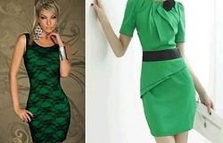 С чем носить зелёное платье? С чем комбинируются зелёный и тёмно-зелёный? Сочетания. Обувь и аксессуары. Примеры образов в фото.