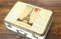 Декупаж чемодана салфетками: мастер-класс. Декупаж в стиле прованс и винтаж своими руками. Отделка изнутри.