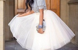 Как накрахмалить фатин. Юбку и платье из фатина